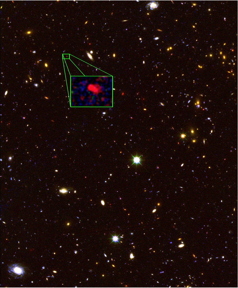 To this: A photo of the farthest galaxy ever discovered, 2013.