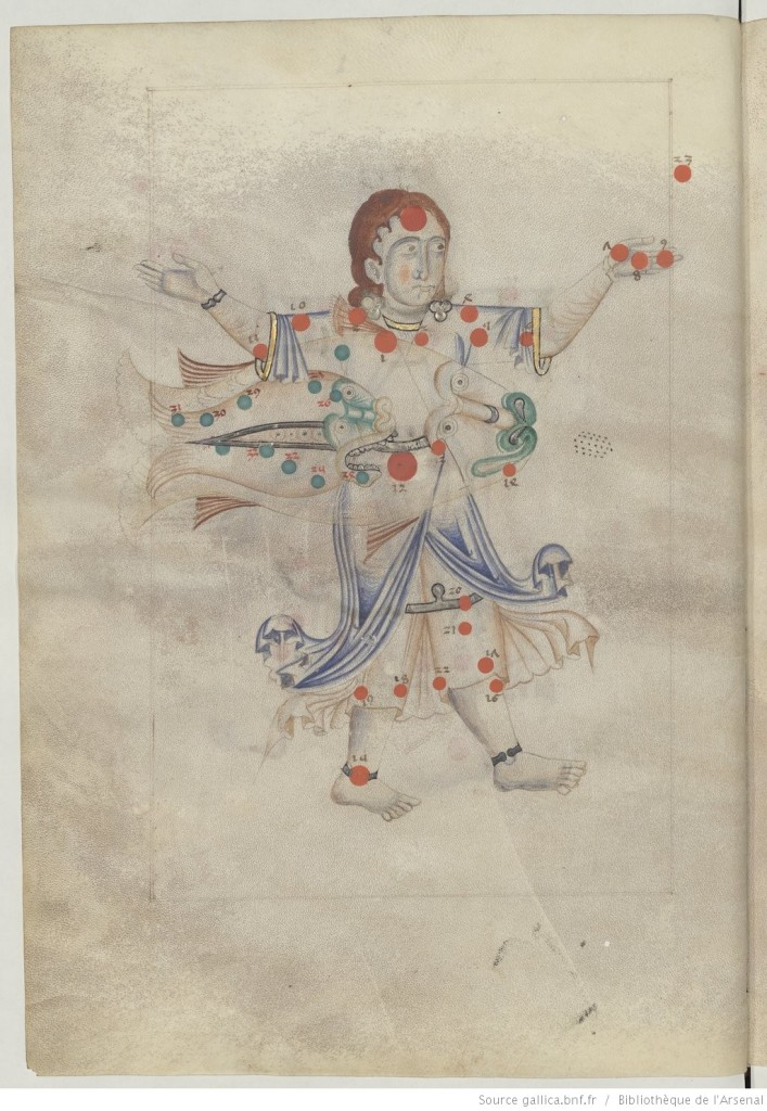 Liber locis stellarum fixarum, Paris, Bibliothèque de l'Arsenal, MS. 1036, fol. 17v.